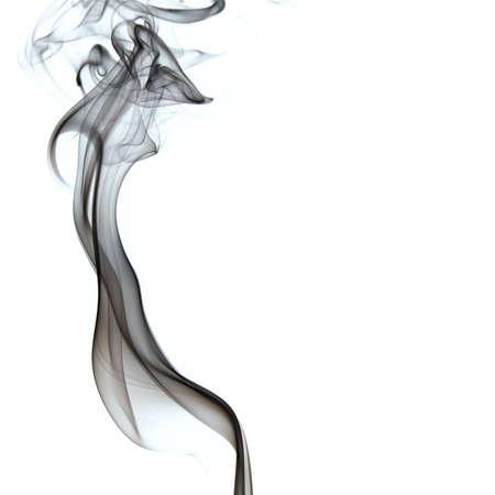 De abstracte figuur van de rook op witte achtergrond