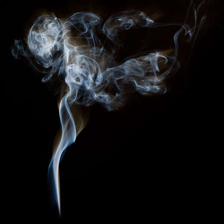 black smoke: The abstract figure of the smoke on a black background