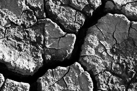 appeared: The soil in the fissures appeared on the long-term heat Stock Photo