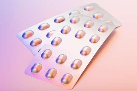 Medicinal pills piled up a bunch of closeup Stock Photo - 8830103