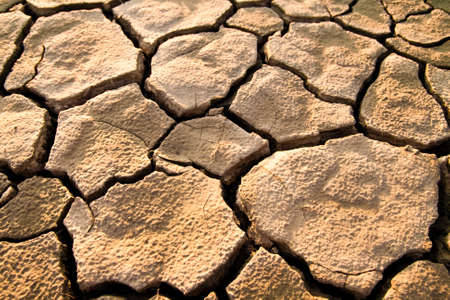 Cracked by the heat long lifeless soil Stock Photo - 11194938