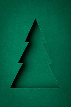The original Christmas tree made ​​of paper design Stock Photo - 16831890