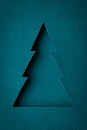 The original Christmas tree made ​​of paper design Stock Photo - 16831891