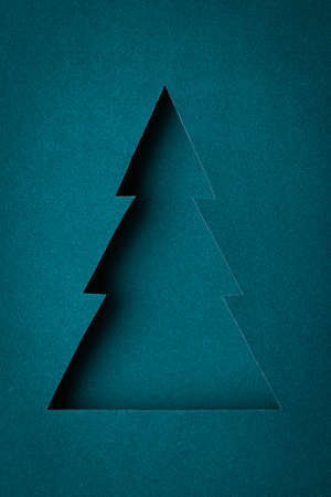 The original Christmas tree made ​​of paper design photo