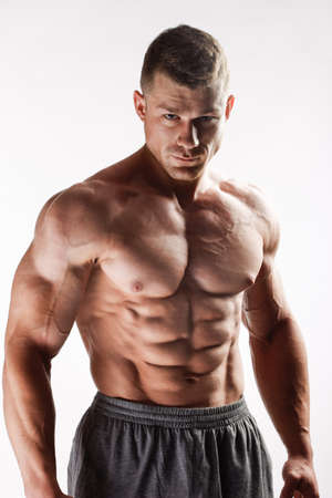 musculos: El chico joven hermosa y fuerte Foto de archivo