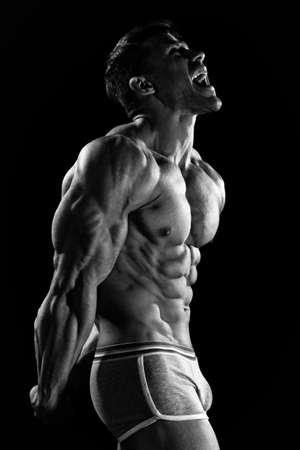 modelos hombres: El chico joven hermosa y fuerte Foto de archivo