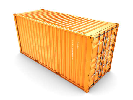 storage compartment: isolated cargo container on the white background