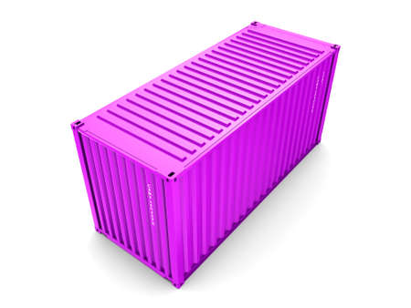 merchandize: Isolated cargo container on the white background