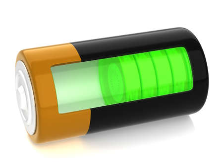 semitransparent: A battery model with semitransparent glassy side