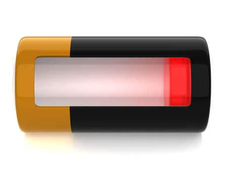 capacitance: A battery model with semitransparent glassy side