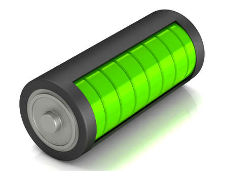 Battery load icon on a white background