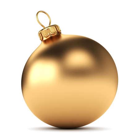 흰색 배경에 골드 크리스마스 공
