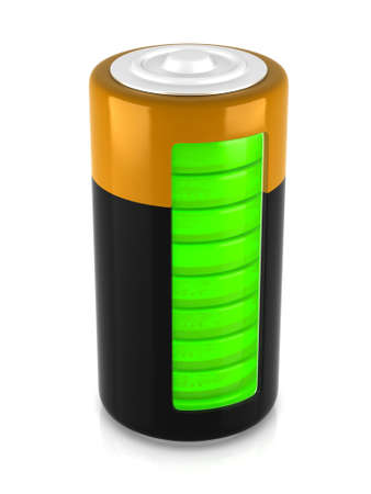 A battery model with semitransparent glassy side