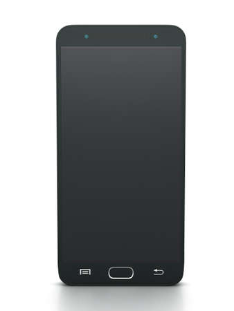 palmtop: Three buttons black touch screen smartphone model