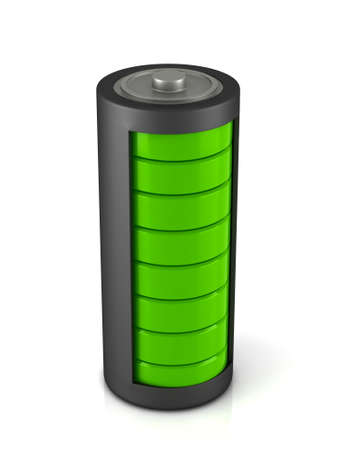 capacitance: Battery load icon on a white background