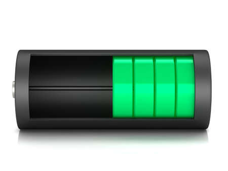 descriptive: Battery load icon on a white background