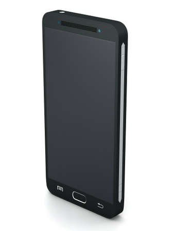pda: Three buttons black touch screen smartphone model