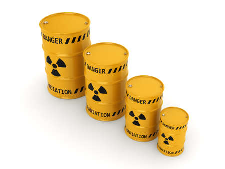 yellows: Yellows radioactive barrels on a white background