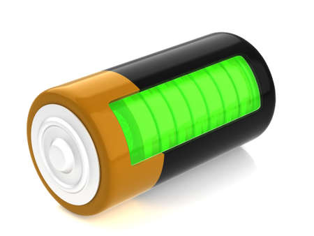 polarity: A battery model with semitransparent glassy side