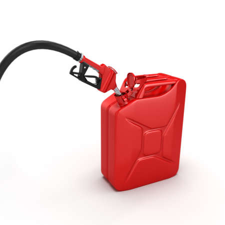 petrol pump: Realistic 3D rendering modern refueling nozzle high quality Stock Photo
