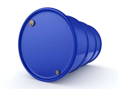contain: 3D rendering blue barrel not contain any inscriptions Stock Photo