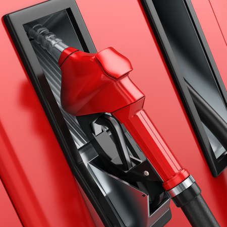 Realistic 3D rendering modern refueling nozzle high quality Stock Photo