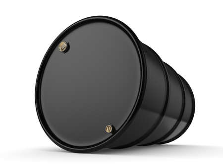 contain: 3D rendering black barrel not contain any inscriptions