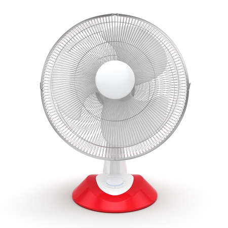 turn table: 3D rendering table fan on a white background
