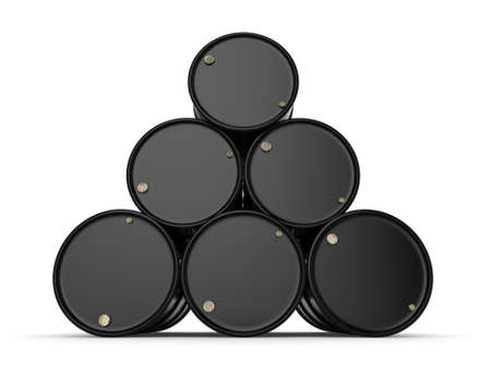 contain: 3D rendering black barrels not contain any inscriptions