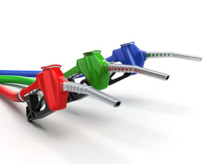 refueling: Realistic 3D rendering modern refueling nozzle high quality Stock Photo