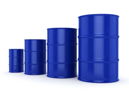 petroleum blue: 3D rendering blue barrels not contain any inscriptions