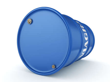 3D rendering Viagra blue barrel on a white background