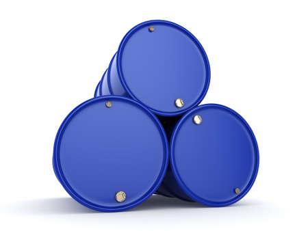 contain: 3D rendering blue barrels not contain any inscriptions