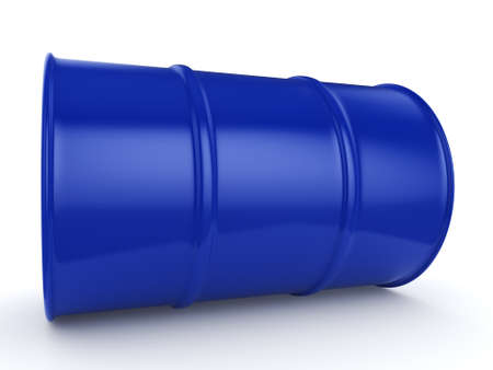 3D rendering blue barrel not contain any inscriptions Stock Photo