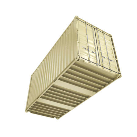 merchandize: 3D rendering the ship a container on a white background