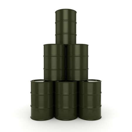 contain: 3D rendering khaki barrels not contain any inscriptions