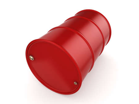 3D rendering red barrel not contain any inscriptions