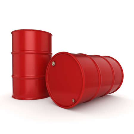 contain: 3D rendering red barrels not contain any inscriptions