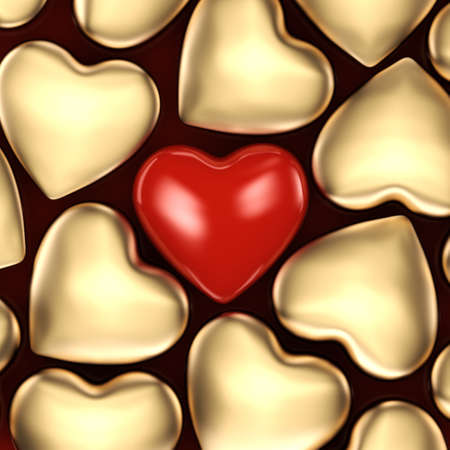 fourteenth: 3D rendering of a beautiful background of red hearts