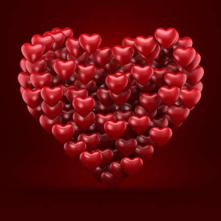3D rendering an object in the shape of heart