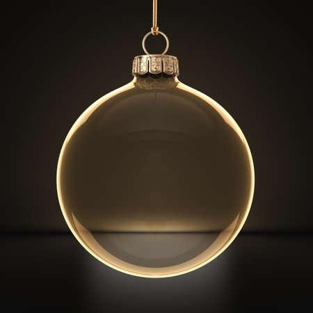 3D 렌더링 투명 크리스마스 공 어두운 배경에 스톡 콘텐츠