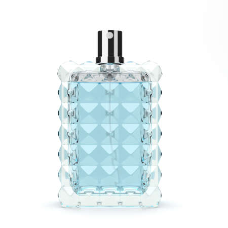 pulverizer: 3D rendering perfume bottle isolated on white background Stock Photo