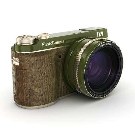 3d rendering modern digital camera on a white background