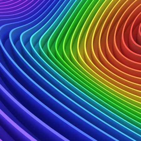 3d rendering simple multicolored rainbow striped background