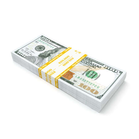 3d rendering a pack of US dollars in high quality Stock Photo