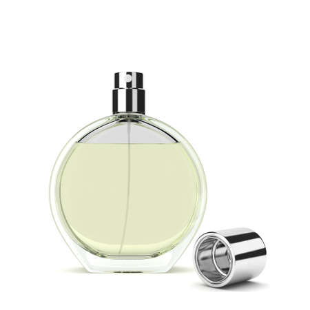 3D rendering perfume bottle isolated on white background Stock Photo
