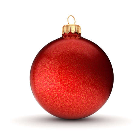 3D rendering Christmas ball on a white background