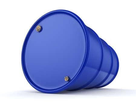 3D rendering blue barrel not contain any inscriptions 版權商用圖片