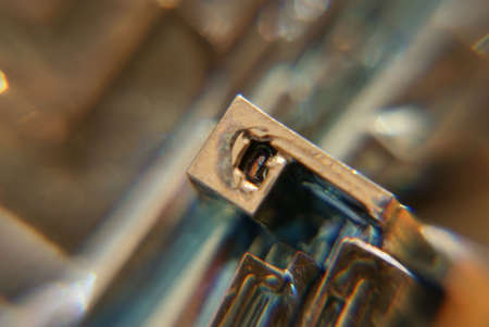 bismuth: Macro shot of Bismuth Stock Photo
