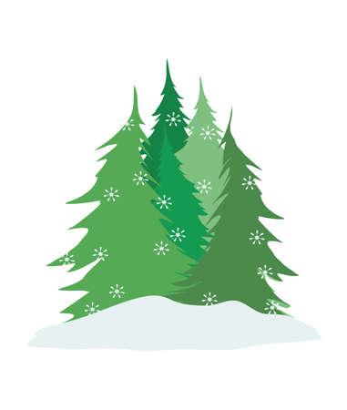 precipitaci�n: �rboles de pino  Vectores